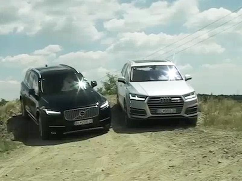 Video test Volvo XC90 vs Audi Q7