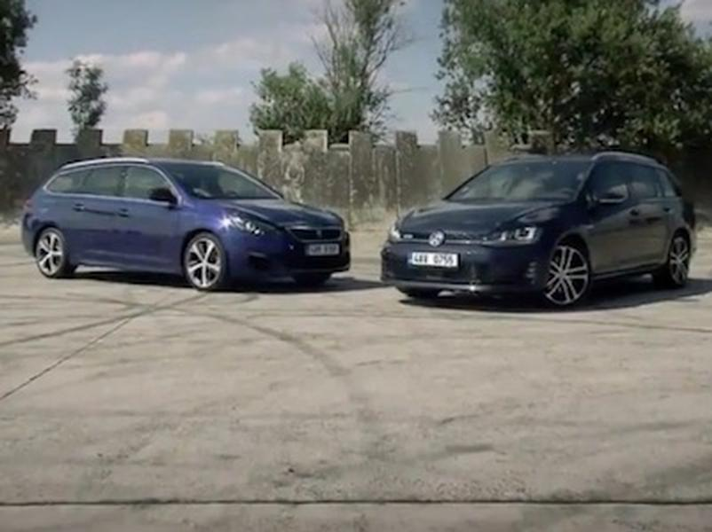 Video test  Peugeot 308 GT vs VW Golf GTD