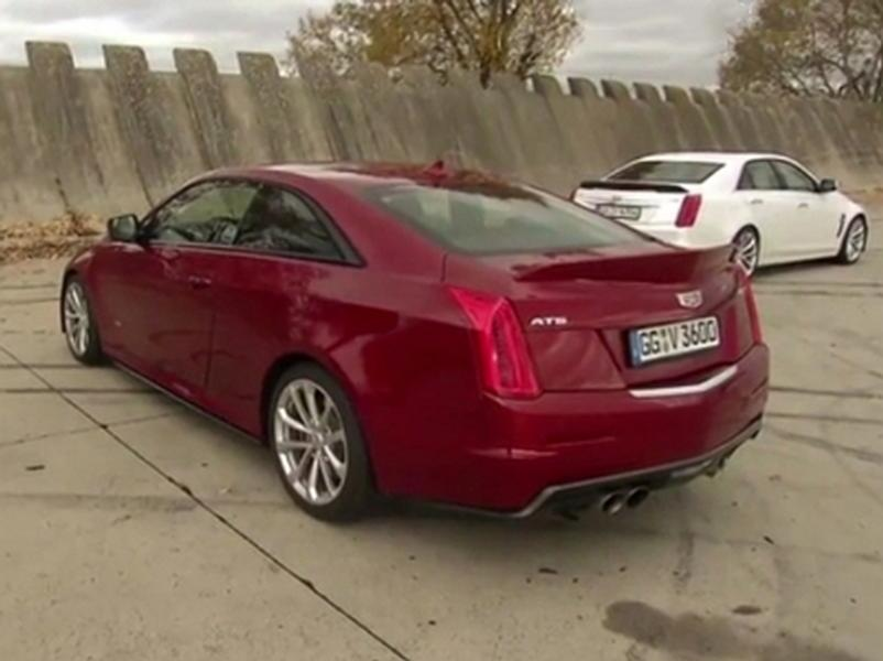 Video test  Cadillac ATS-V Coupe vs Cadillac CTS-V