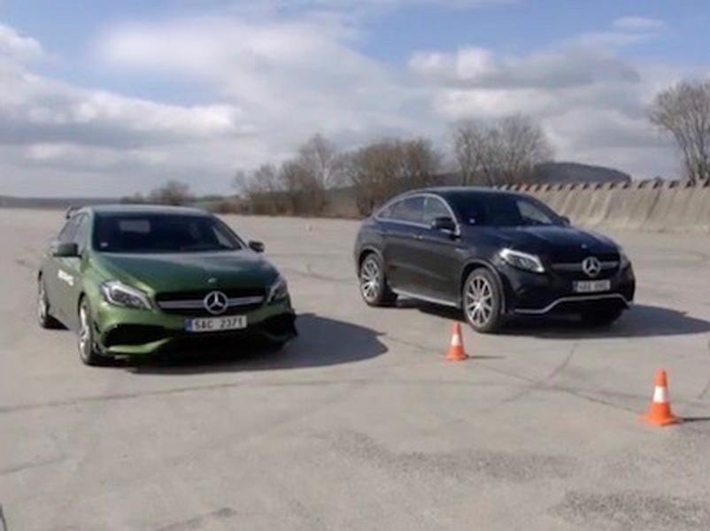 Test Mercedes-AMG A 45 vs GLE 63 S