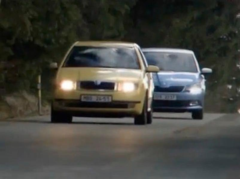 Video test Škoda Fabia 2001 vs Škoda Fabia 2016
