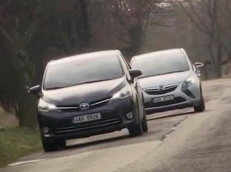 Video test Toyota Verso vs Opel Zafira