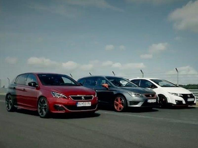 Video test Honda Civic Type R vs Seat Leon ST Cupra 290 vs Peugeot 308 GTi