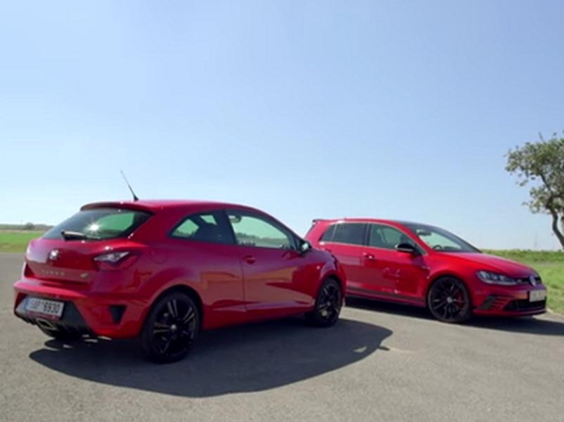 Test VW Golf GTI Clubsport vs. Seat Ibiza Cupra