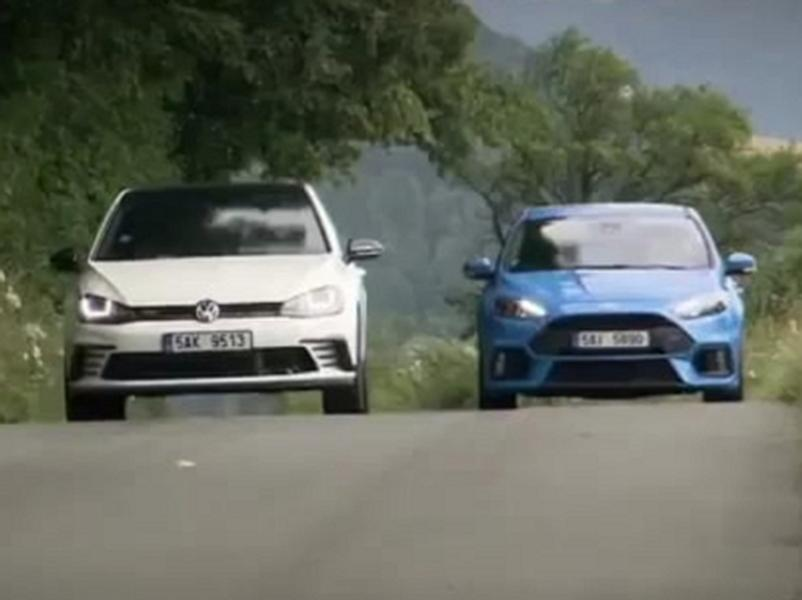Test Ford Focus RS vs Volkswagen Golf GTI