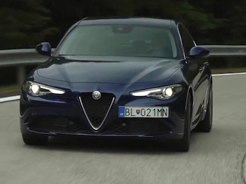 Video test Alfa Romeo Giulia 2.2 Multijet vs Jaguar XE 2.0 D