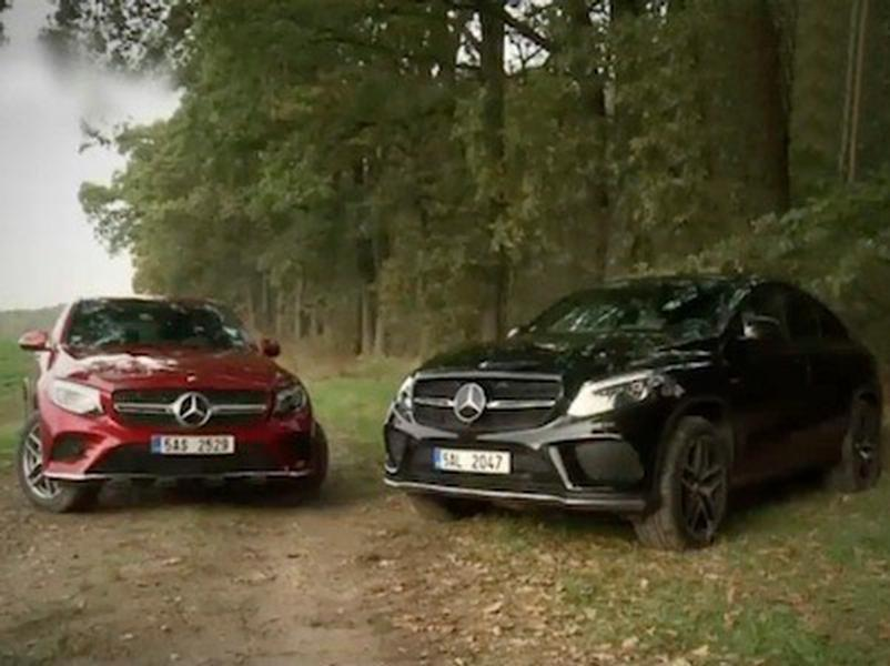 Video test Mercedes Benz GLC Coupe vs GLE Coupe