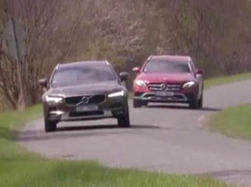 Video test Mercedes E All-Terrain vs Volvo V90 CC