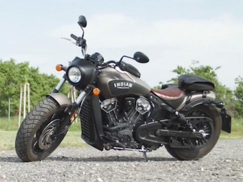 Video test Indian Scout Bobber