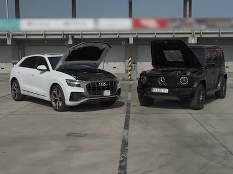 Video test Audi Q8 3.0 TDI vs Mercedes-Benz G 500