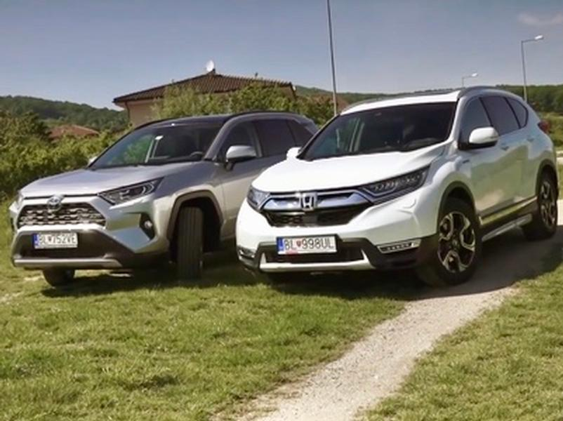 Video test Honda CR-V Hybrid vs Toyota RAV4 Hybrid