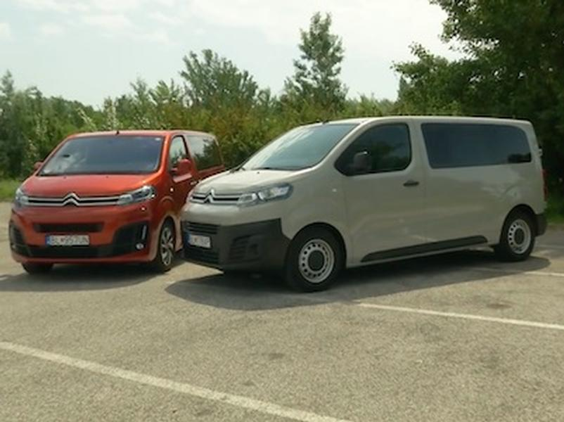 Video test Citroën Spacetourer vs. Jumpy Combi