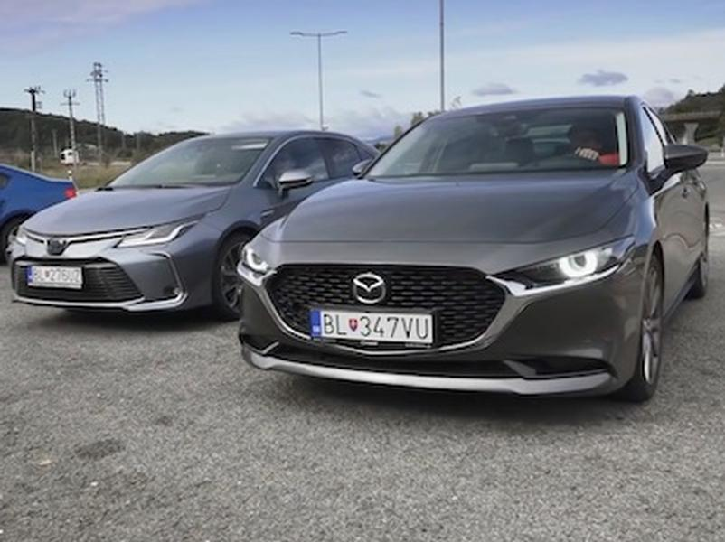 Video test Mazda3 vs Toyota Corolla