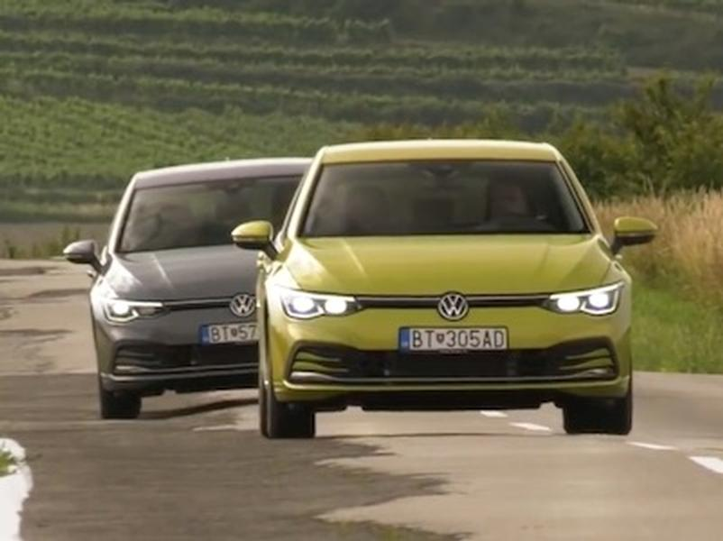 Video test Volkswagen Golf 8 1.5 TSI versus 1.5 eTSI DSG