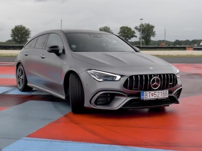 Video test Mercedes CLA45s AMG